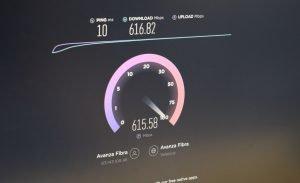 test de velocidad internet Avanza Fibra